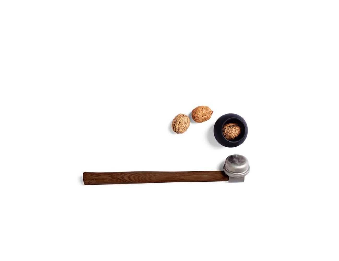 Nut Hammer – Dark Wooden Shaft With a Cast-Iron Top