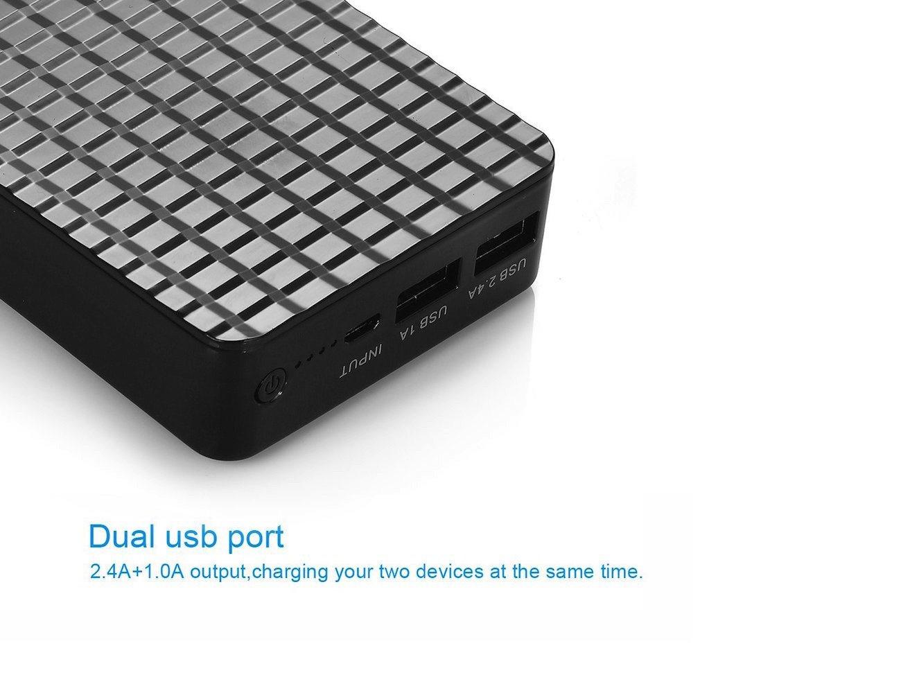 Poweradd™ Pilot Plus – High Capacity 20000mAh (2.4A+1.0A) Portable Charger