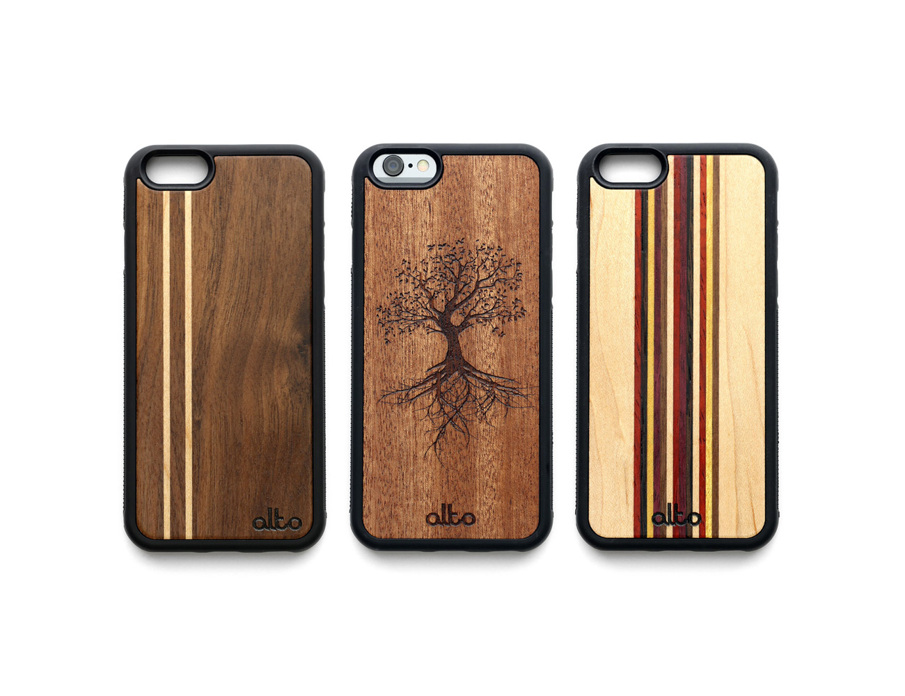 Real Wood Phone Cases - for iPhone and Samsung 01