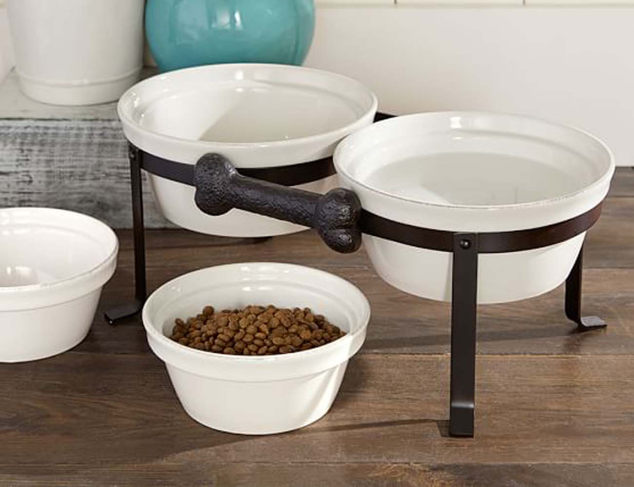 Rhodes Dog Bone Bowl & Stand