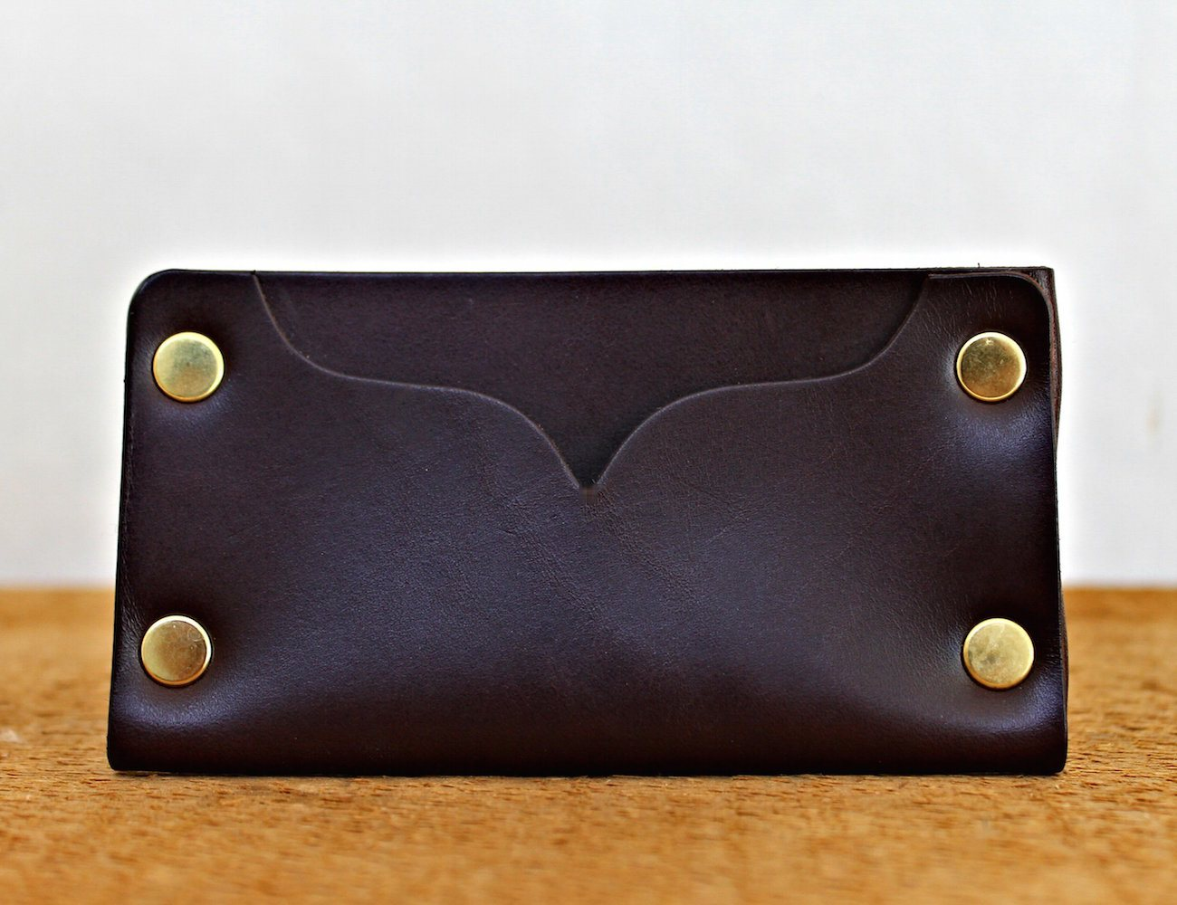 Riveted Leather Cardholder by American Bench Craft