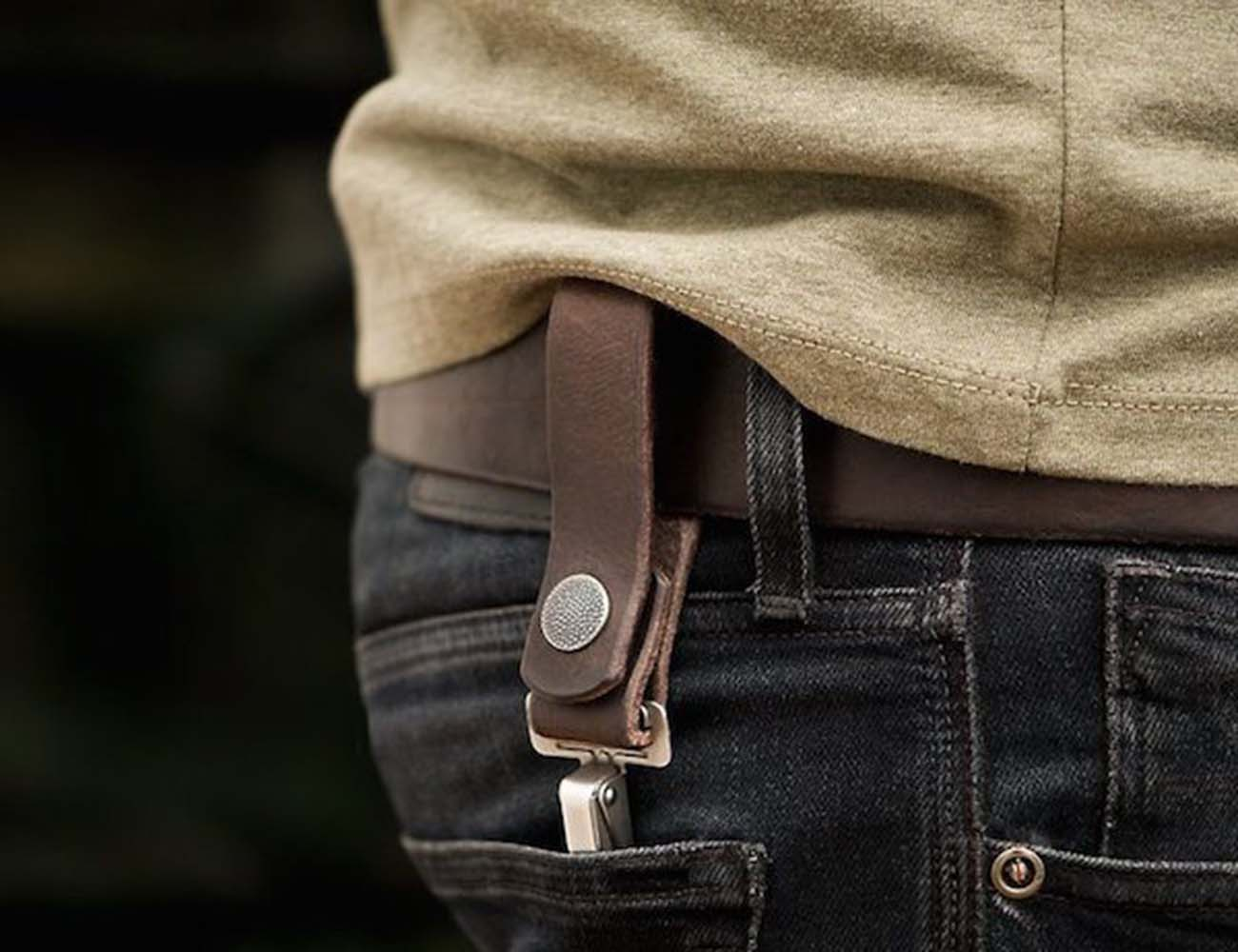 Rugged Belt Loop Keychain by 877 Workshop
