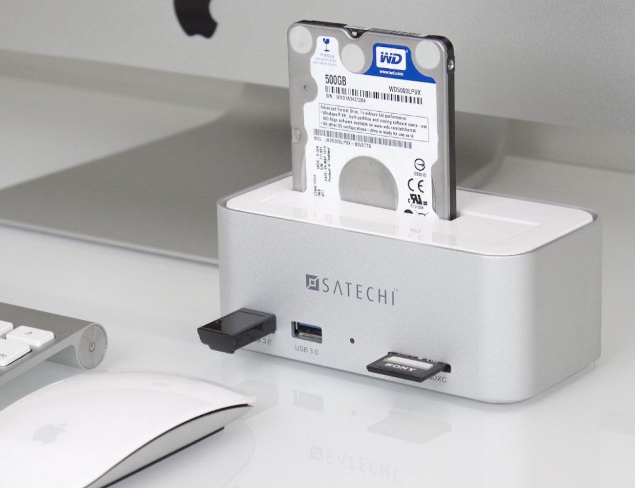Satechi Aluminum USB 3.0 SATA III HDD Docking Station