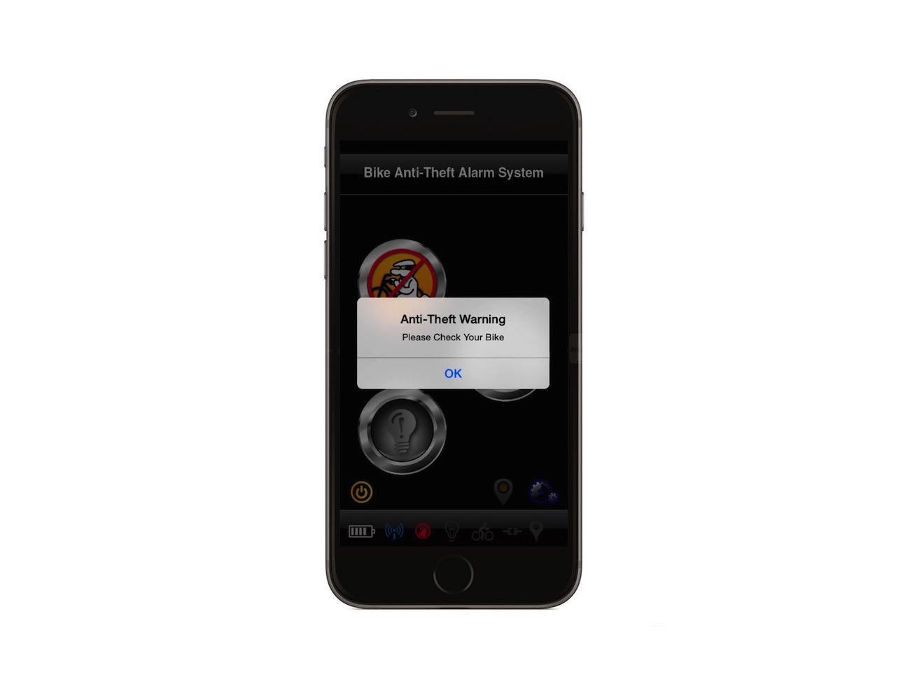 Smartphone Alerting Bike Alarm