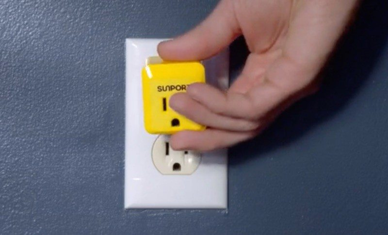 By Hacking the Grid, the SunPort Extracts Solar Power from Any Wall Socket