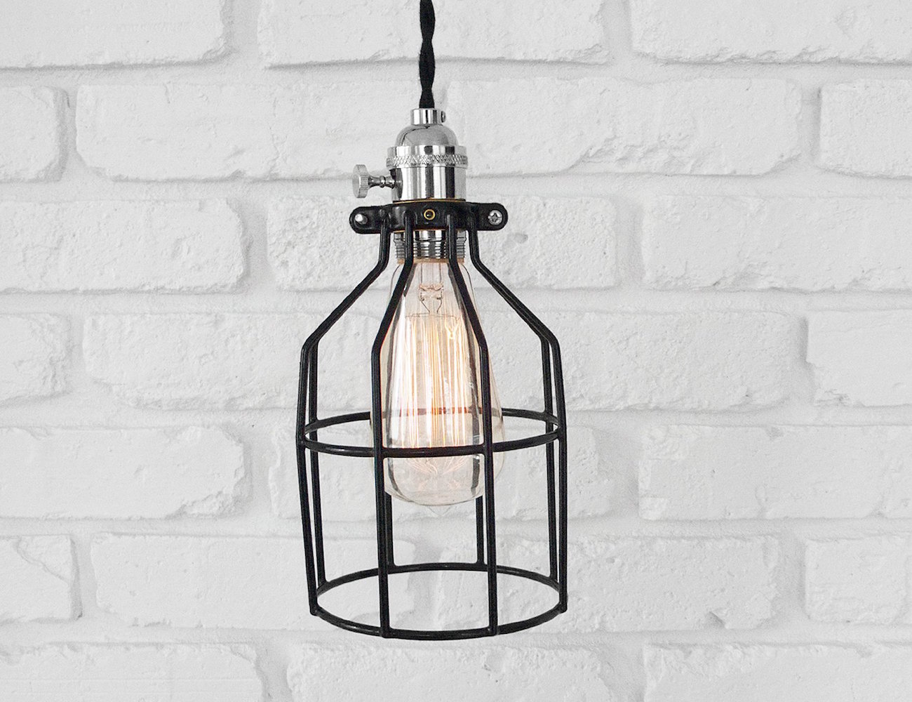 The Mercer Lamp – Vintage Pendant or Table Lamp