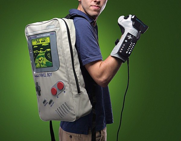 Gone are those days when your bags said nothing about you. With designs like this TravelBoy Game Boy Backpack by ThinkGeek, you can now show off your passion for retro gaming even when you travel.