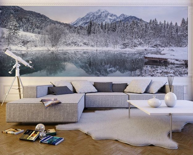Winter in slovenia wall mural gadget flow for Winter wall murals