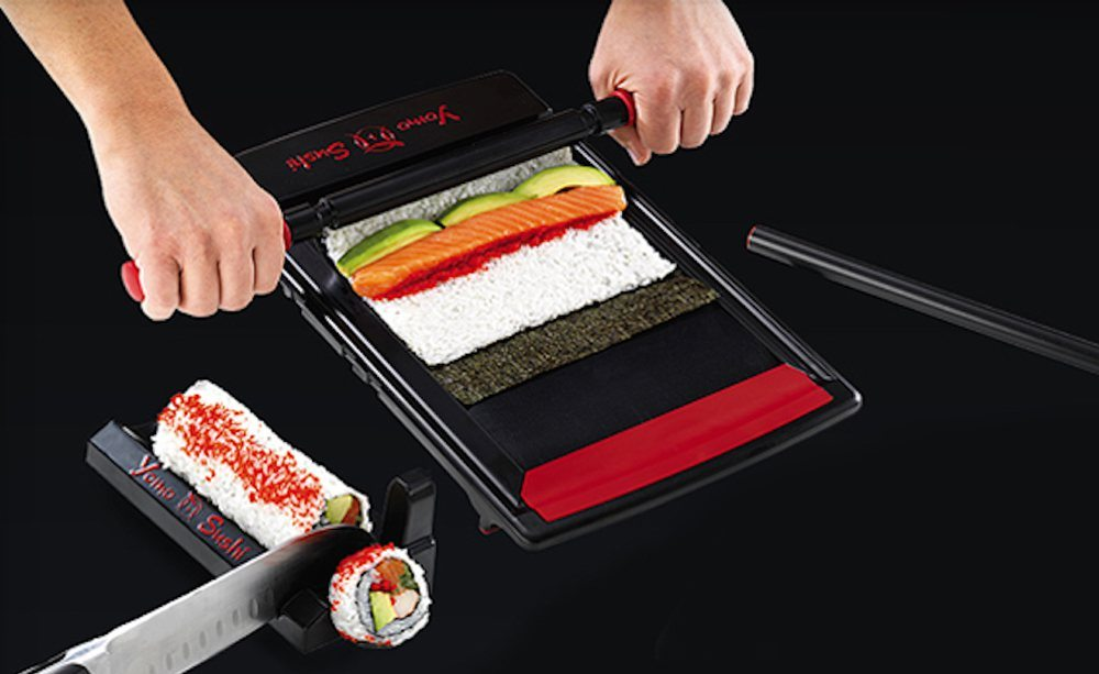 Yomo sushi maker sushi rolling system and roll cutter for Kitchen pro smart cutter