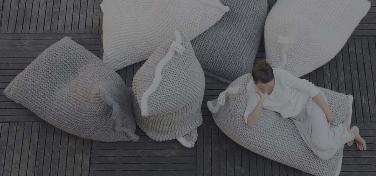Zilalila Nest Knitted Bean Bag Slider