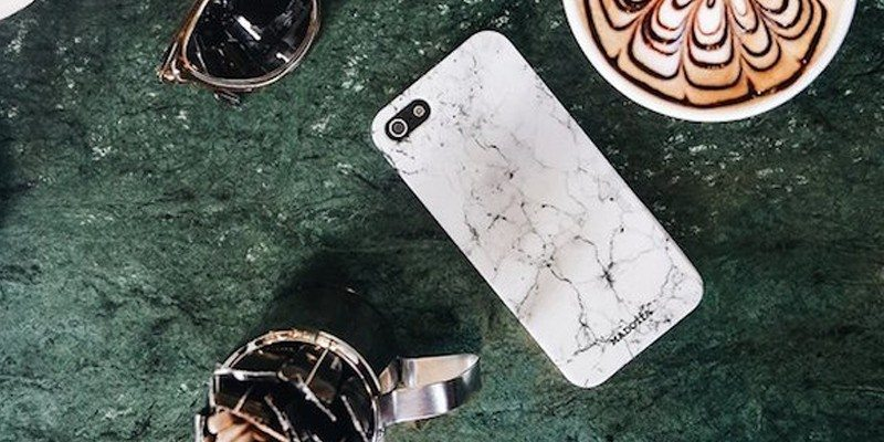 White Marble 3D Printed Phone Case