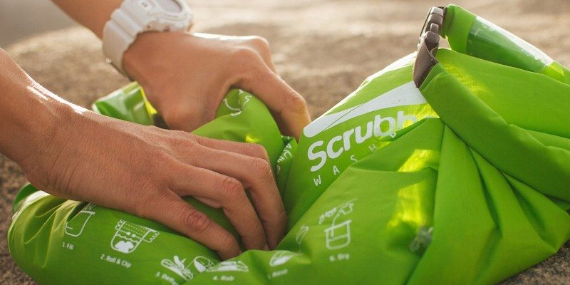 Scrubba wash bag for travelers