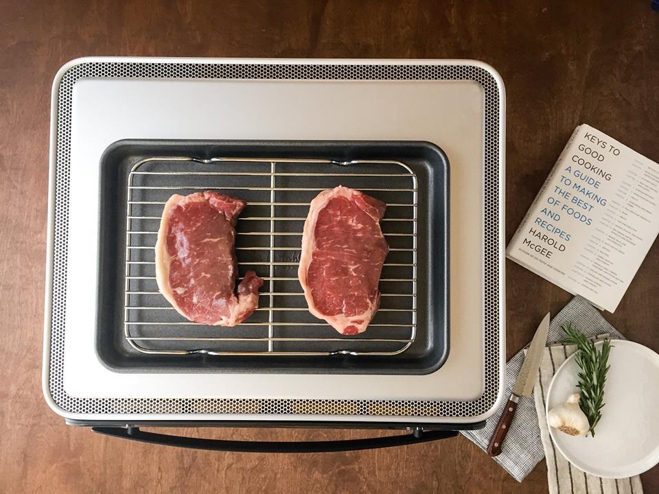 June weighing steak