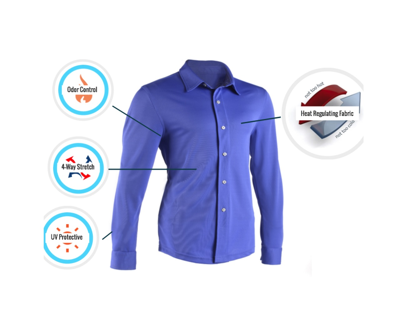 A Dress Shirt With Cooling Technology