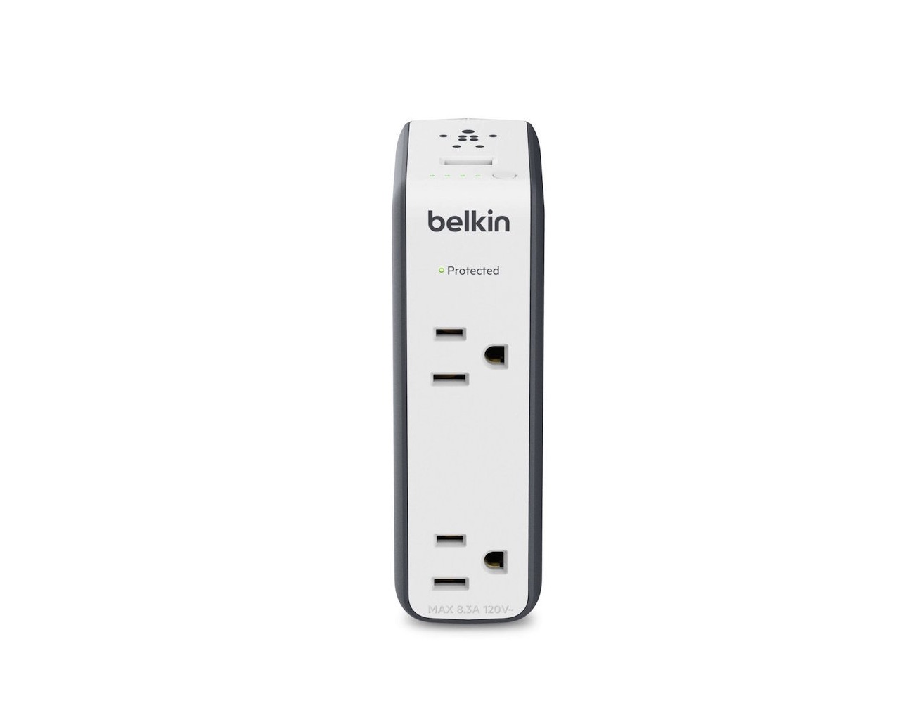 Belkin Travel Rockstar Surge Protector with Two AC Outlets & 3000 mAh Battery Pack