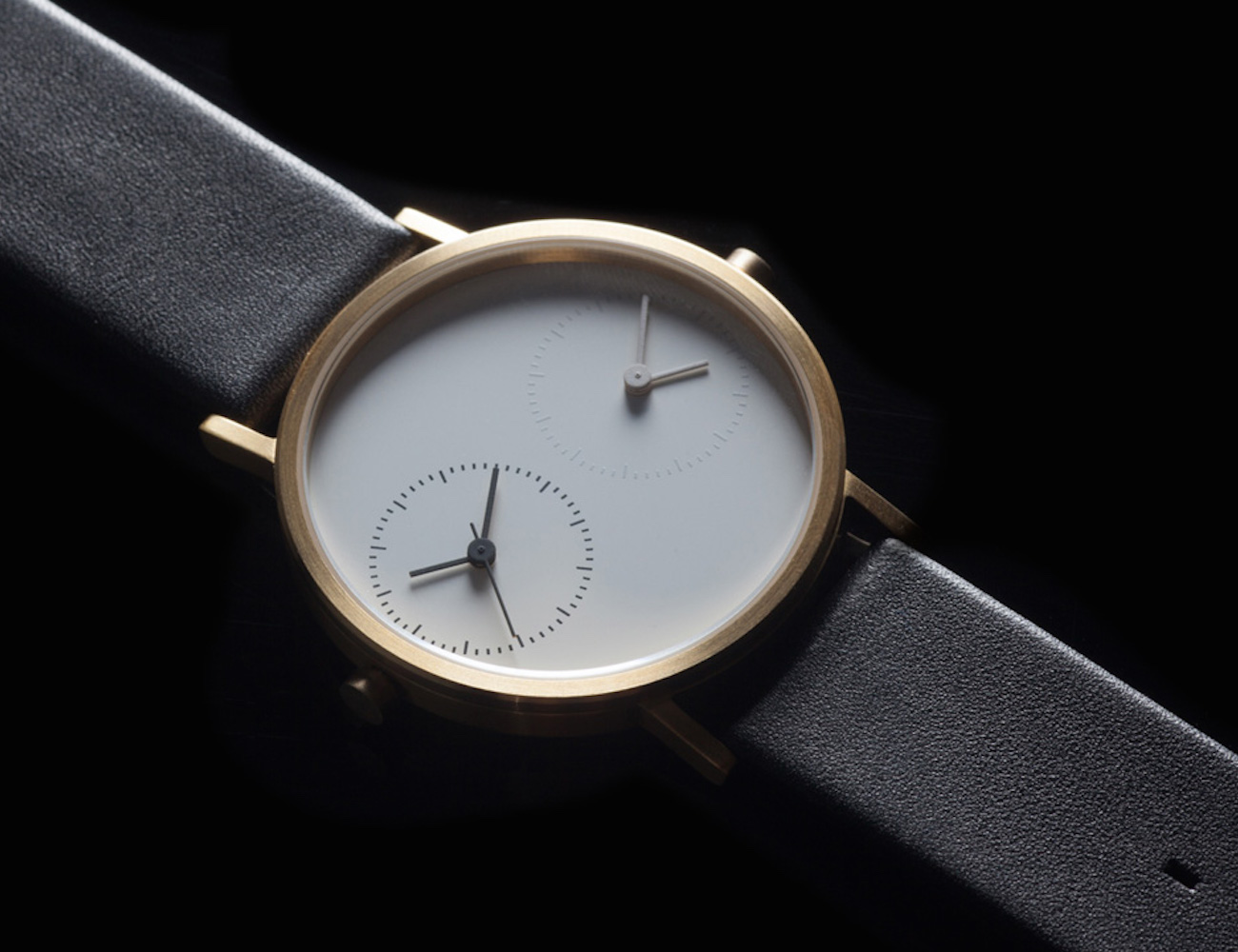 Black Long Distance Watch by Kitmen Keung – Displaying Two Different Timezones