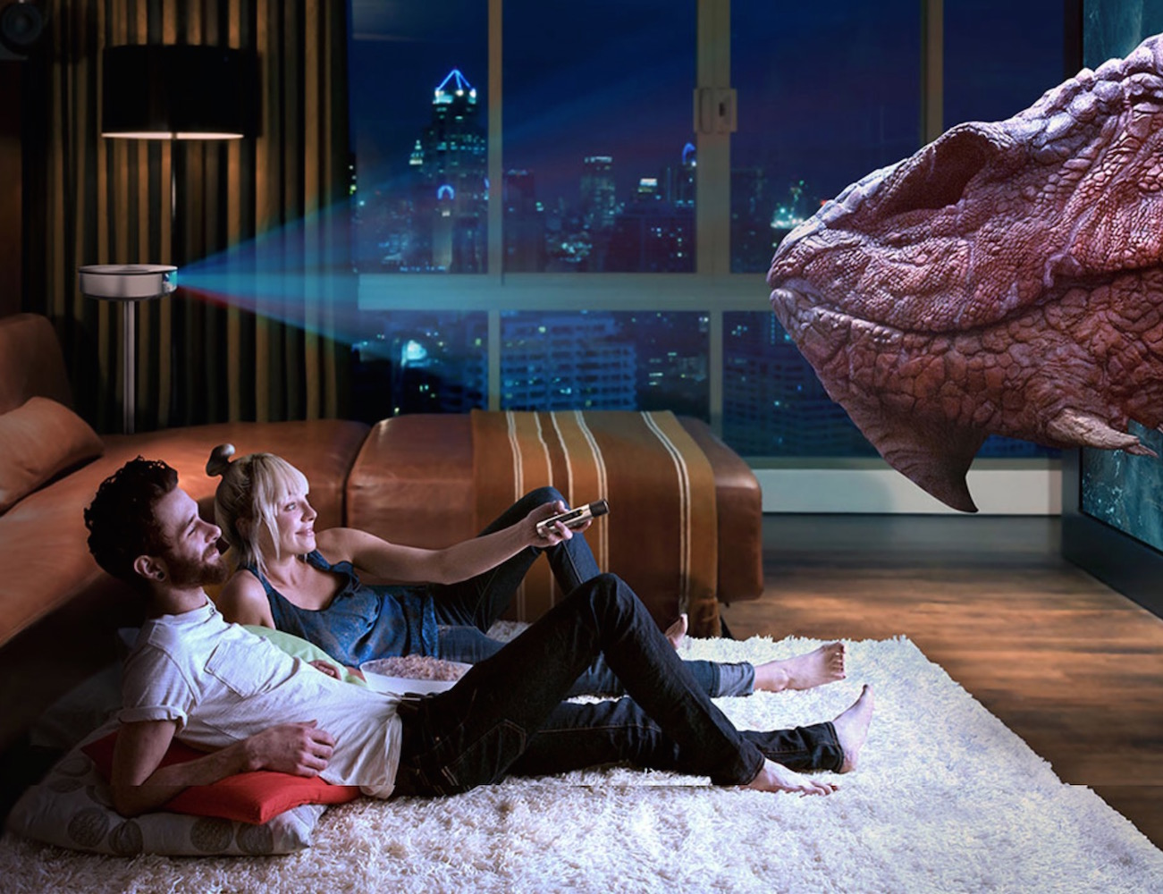 Bluetooth 3D Smart Home Theater Projector