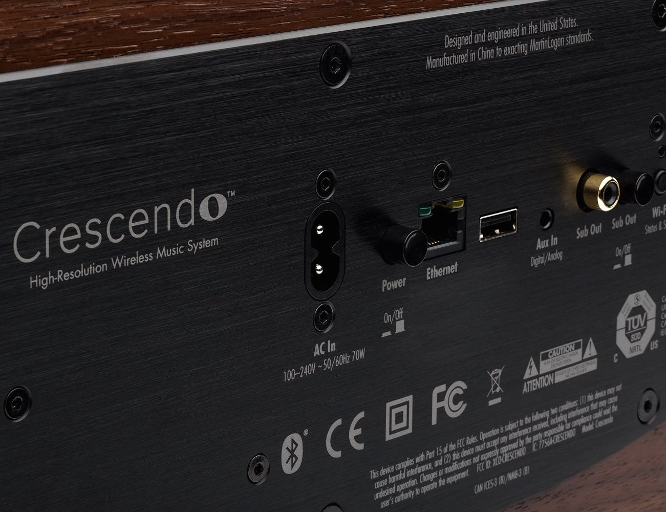 Crescendo – Walnut Premium Wireless Music System by MartinLogan