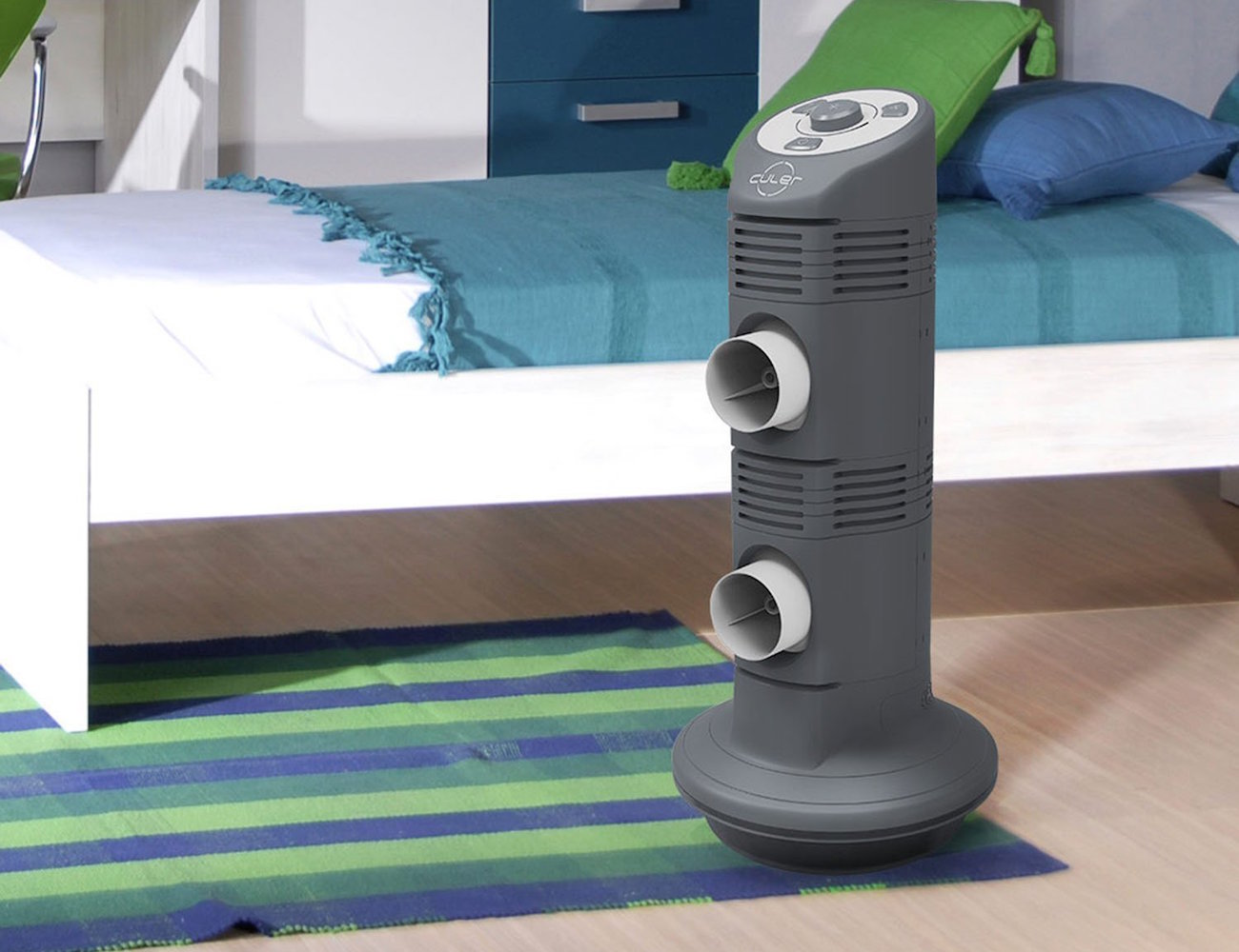 Culer 3-Speed Double Port Space Cooler