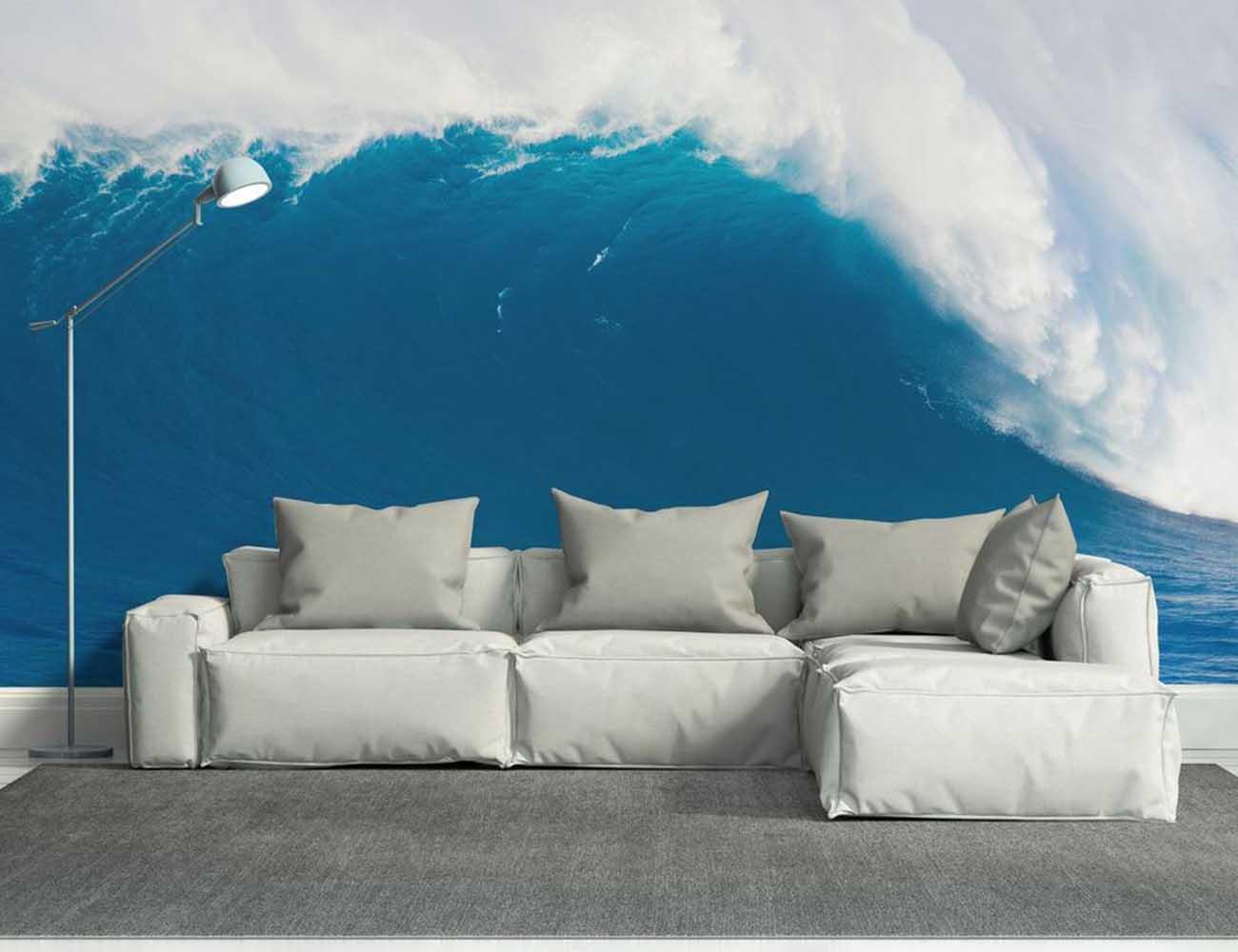 Deep Blue Wave Wall Mural