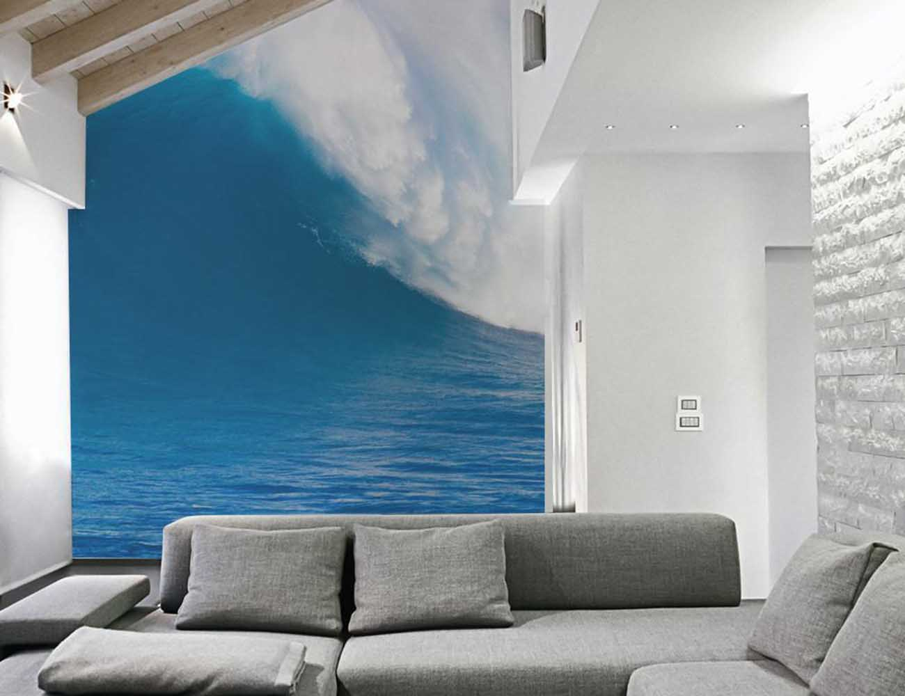 Deep Blue Wave Wall Mural