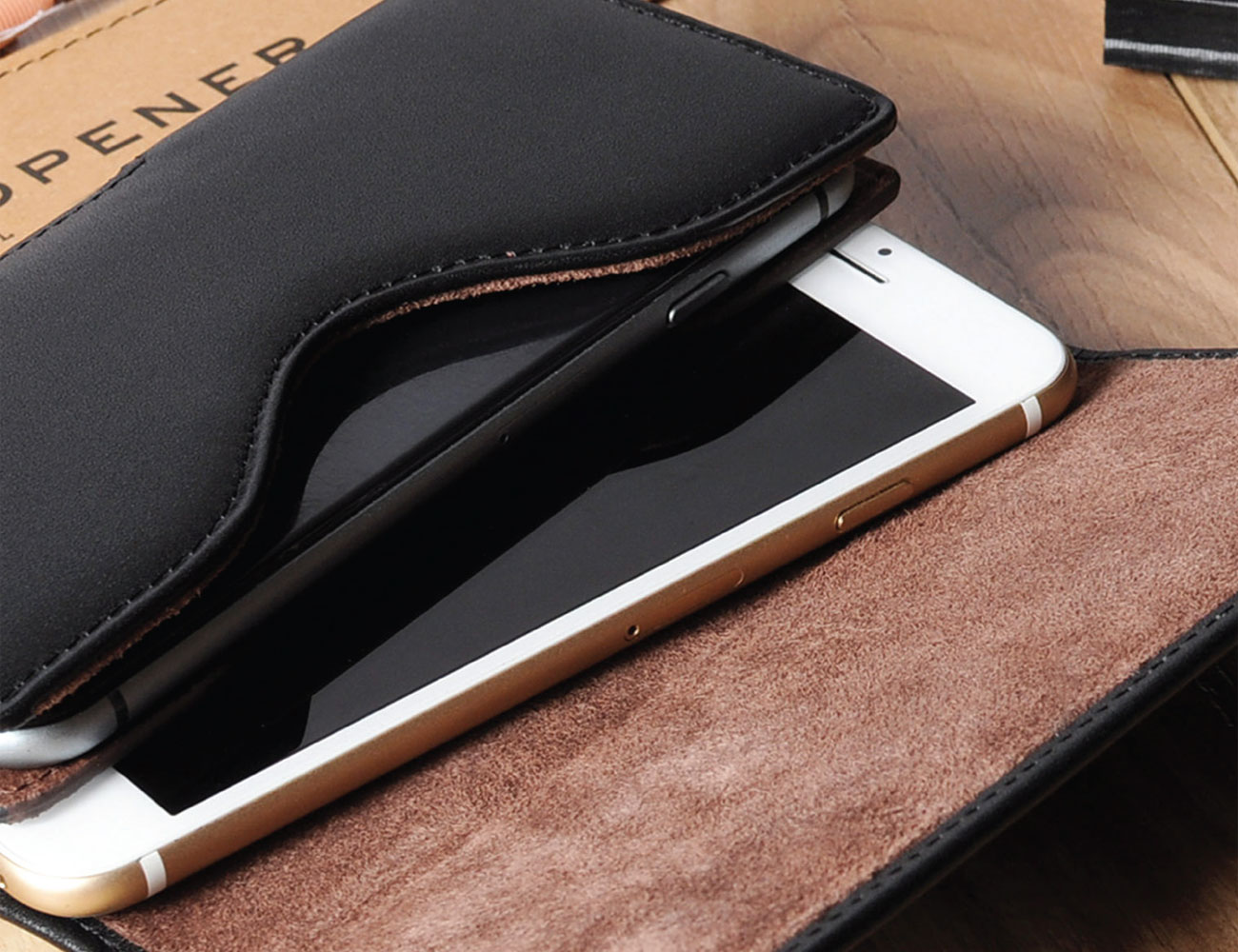sale retailer b5a6f 1228d Double Decker – Custom Made Genuine Leather Holster for 2 Phones