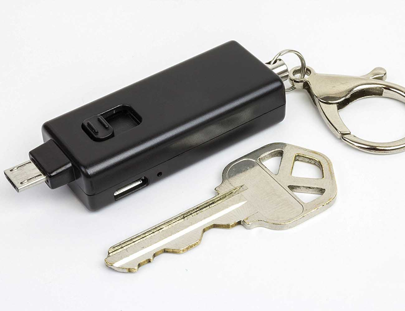 Emergency Keychain Charger by Pulsepak