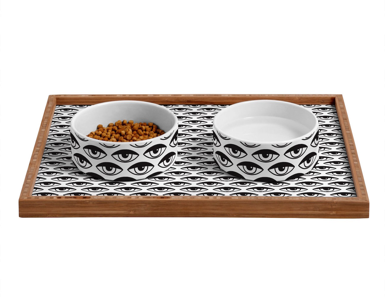 Eyes On You Pet Bowls & Tray