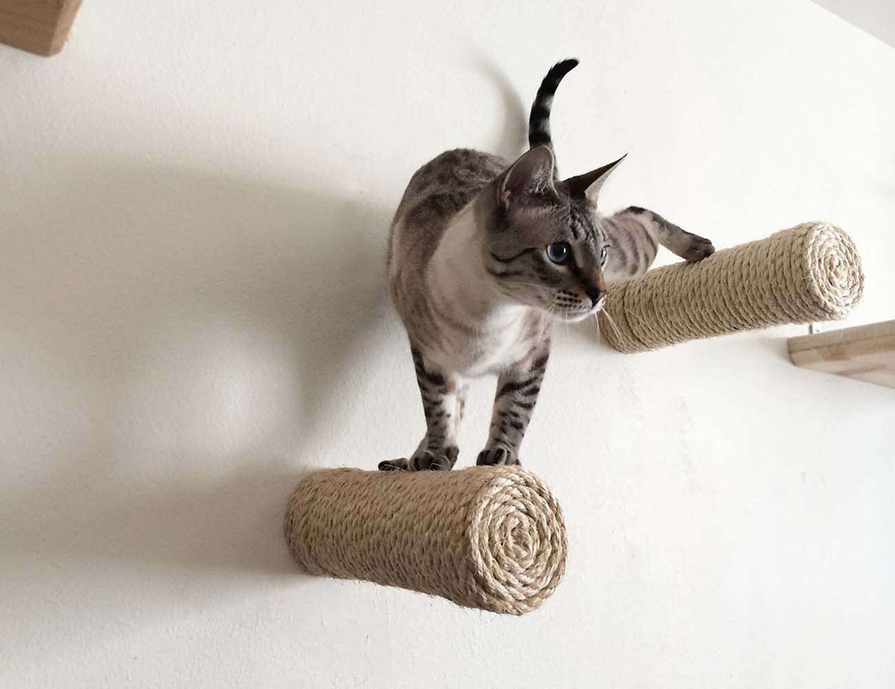 Floating Sisal Cat Shelf Post