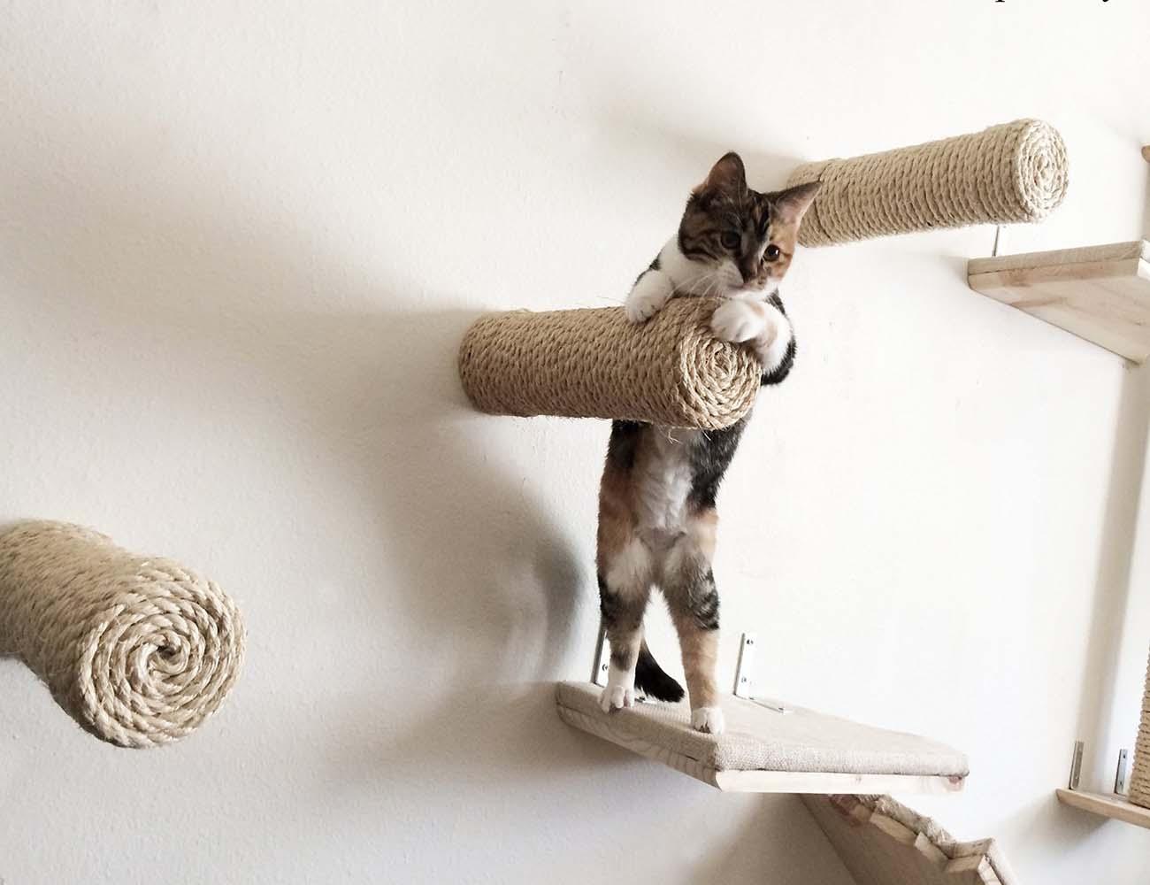 Floating Sisal Cat Shelf Post