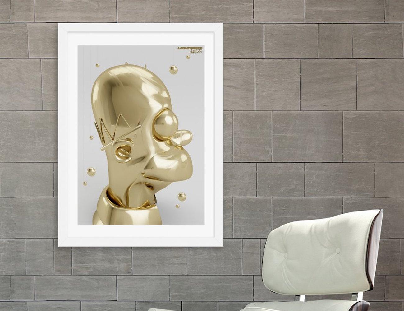 Golden Homer Print by Antoni Tudisco