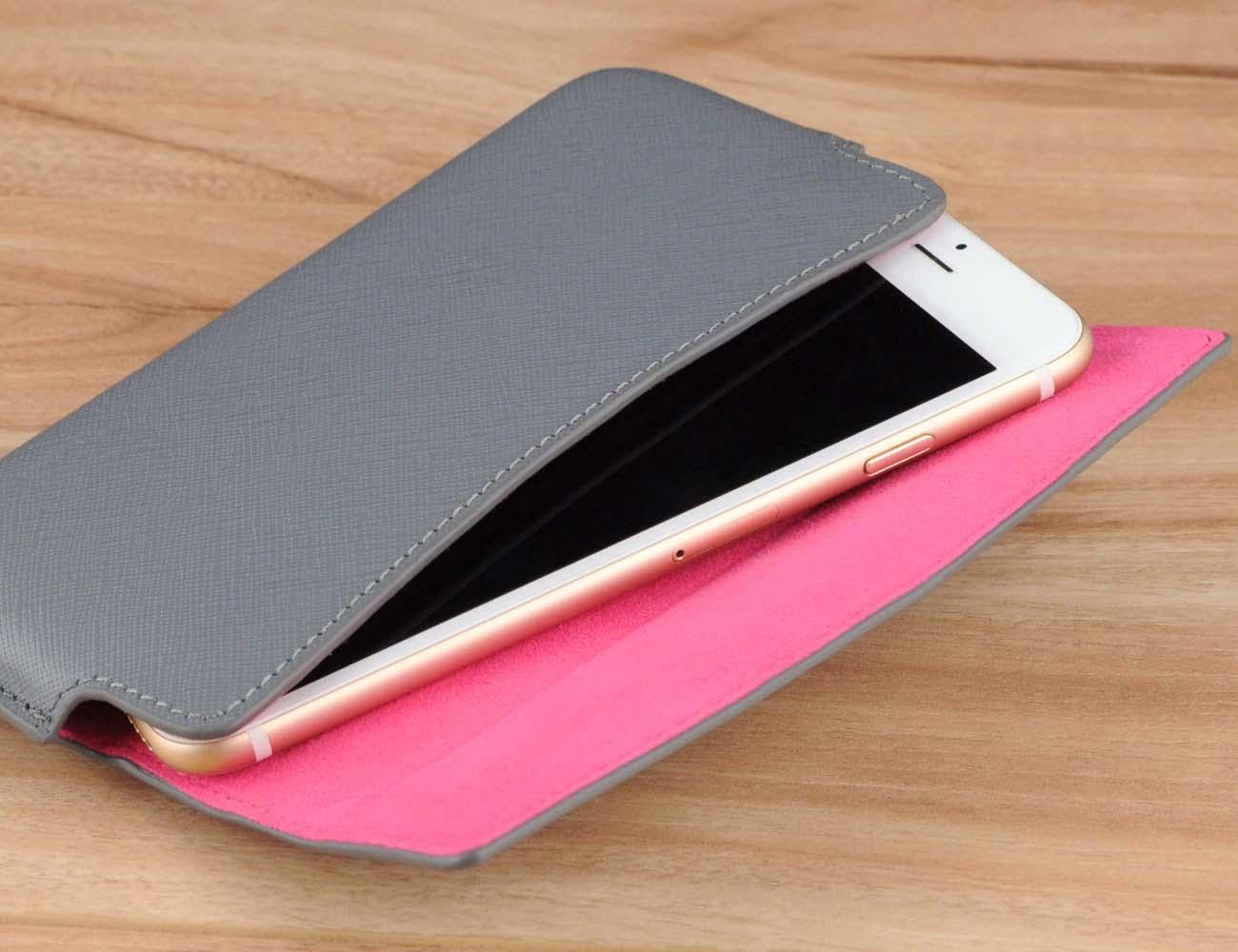 Handmade Genuine Leather Belt Clip Holster Phone Case