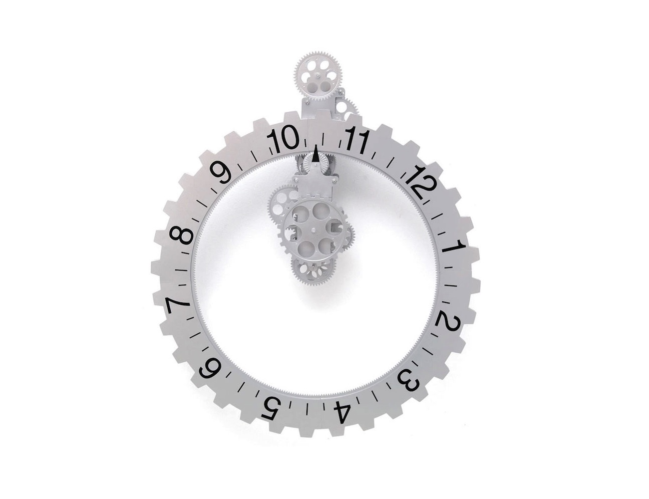 Hands Free Gear Clock – Wall Clock With No Hands