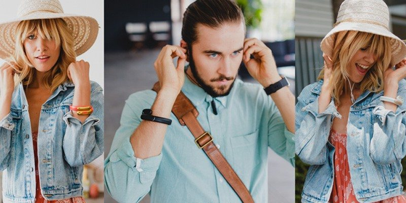 HELIX wearable cuff with stereo Bluetooth headphones