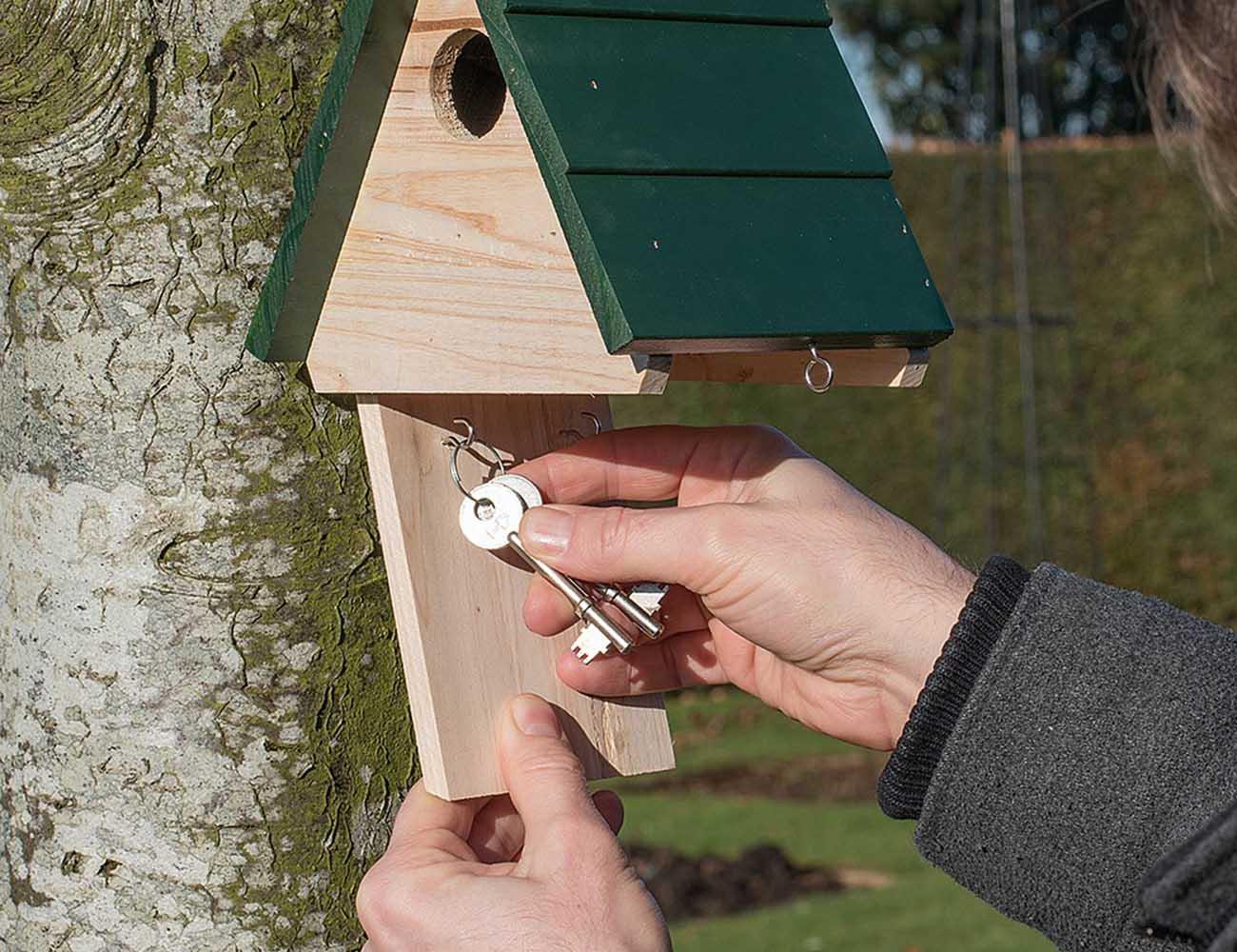 Hidden Key Birdhouse