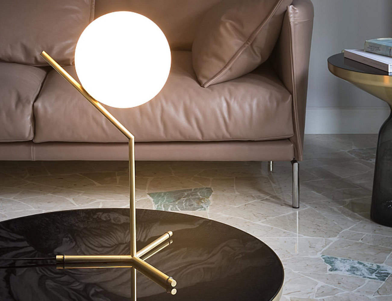 IC T1 Tall Table Lamp by Flos – Provides Diffused Lighting