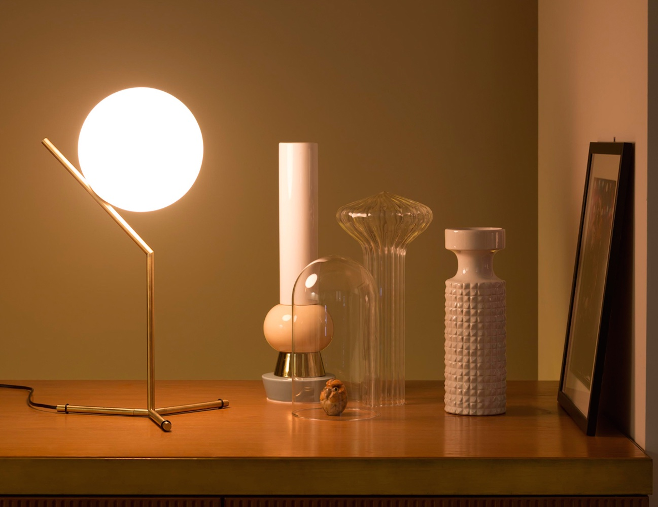 IC T1 Tall Table Lamp by Flos - Provides Diffused Lighting ...