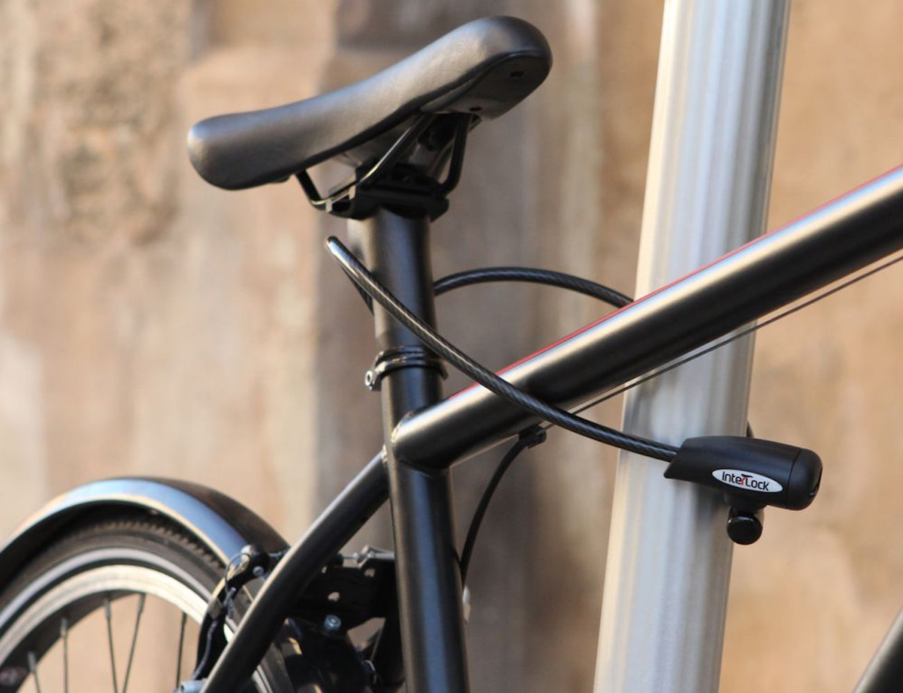 InterLock+Crosstown+Post+Bicycle+Lock