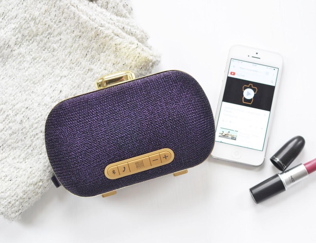 Mini-Clutch Speaker by Stellé Audio – Bluetooth Speaker and Clutch in One
