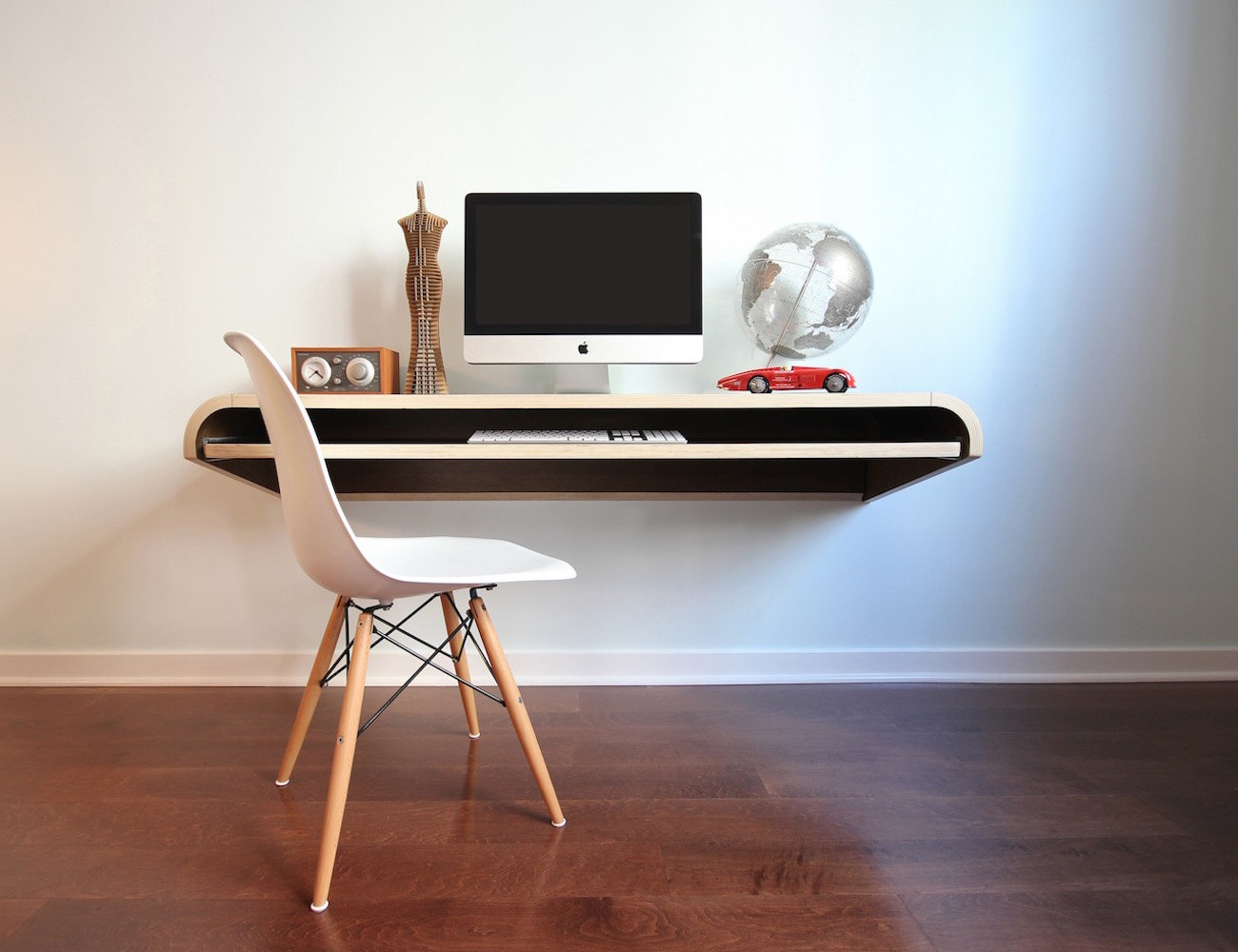 Minimal Float Wall Desk by Orange22 – Multi Use Workstation or Display Shelf