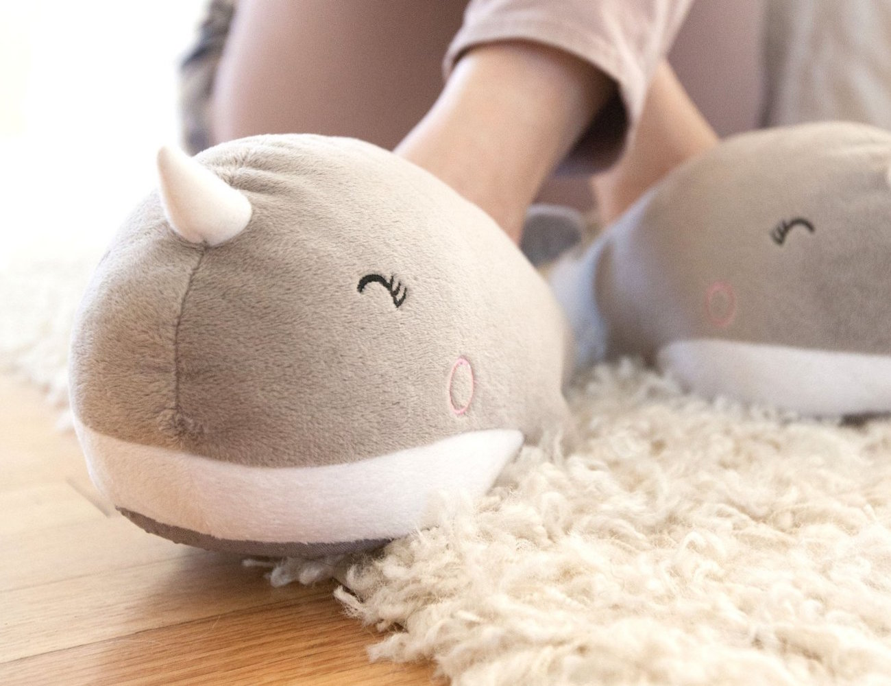 Nari Narwhal USB Heated Slippers