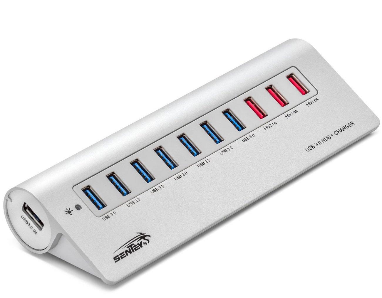 Sentey Aluminium 10 Ports USB 3.0 Hub