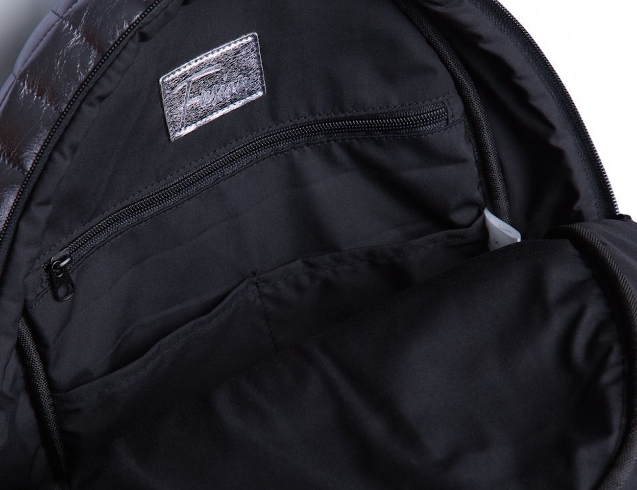Silver Bar Backpack by Fusion Clothing – Quilted Vinyl Fabric With Branded Elements