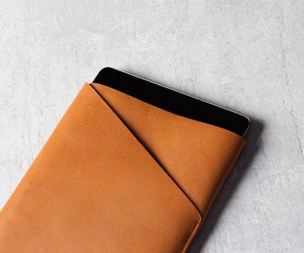 Slim+Fit+IPad+Air+Leather+Sleeve+%28Tan%29