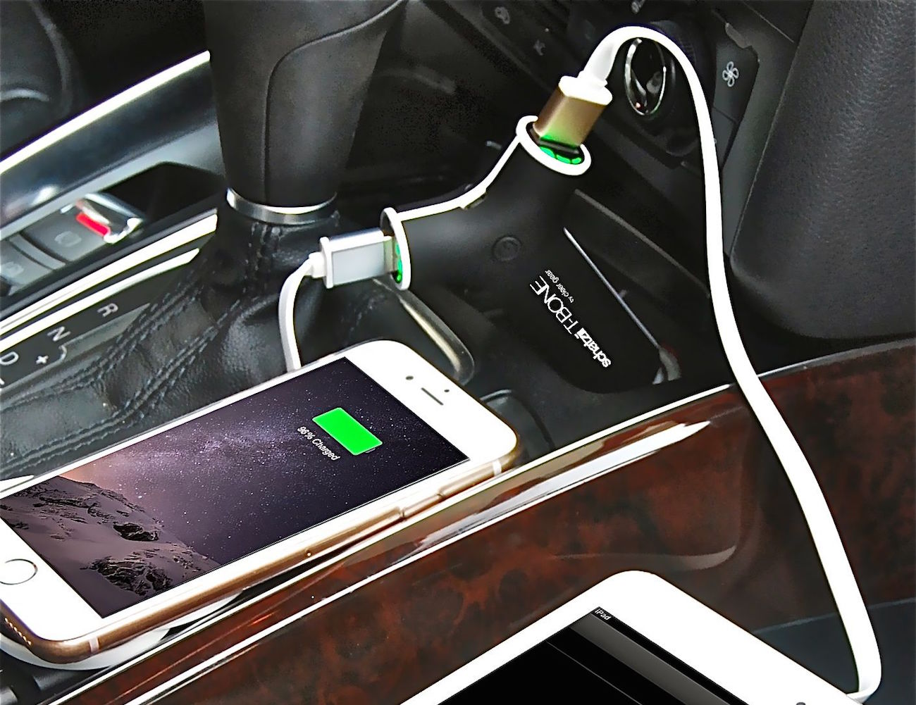 T-BONE 3 in 1 Car Charger + Power Bank + LED Torch Flashlight