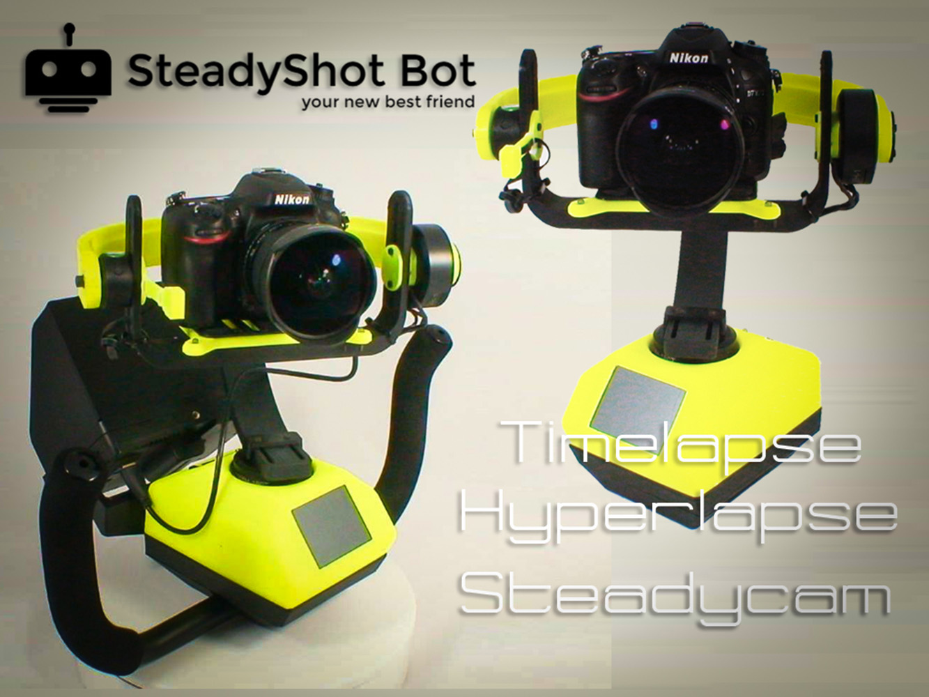 The steady shot bot photography robot gadget flow for Shot bot lighting
