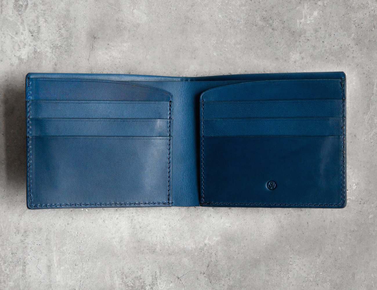 The Steinbeck Bill Fold Wallet in Marine