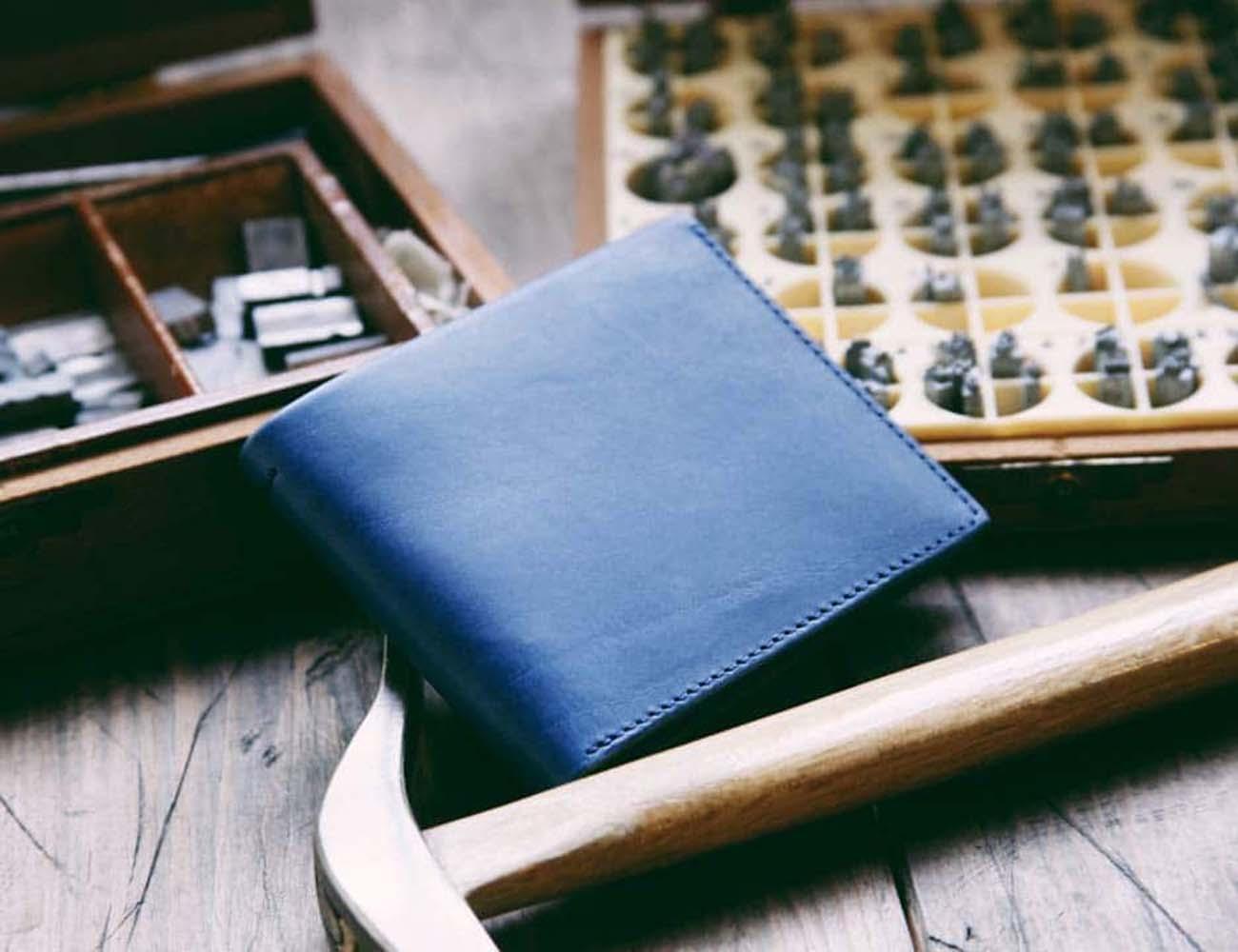 The Steinbeck Bill Fold Wallet in Marine