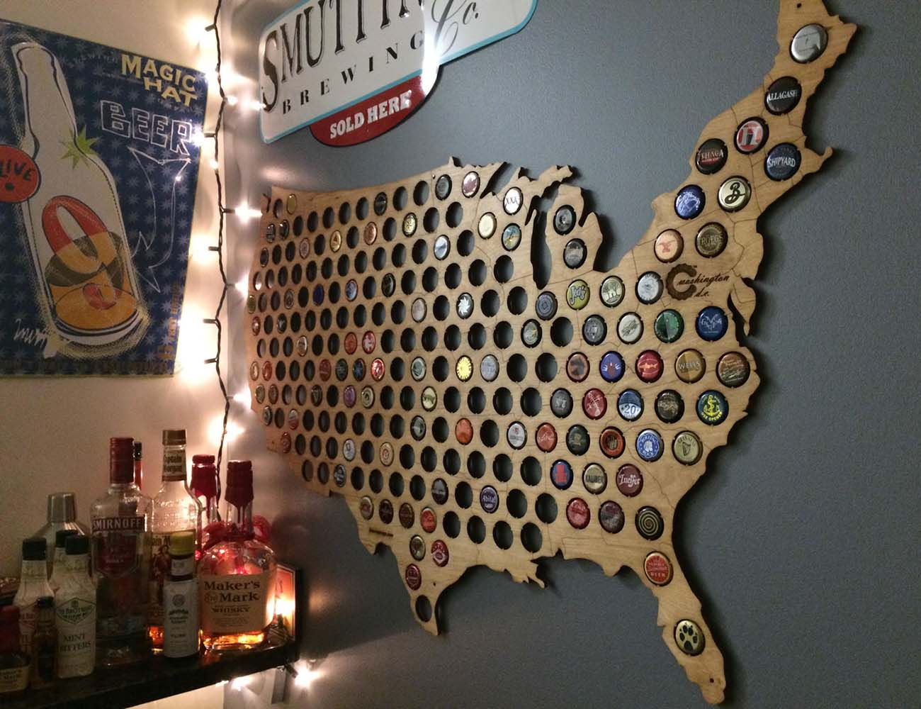 USA Beer Cap Map