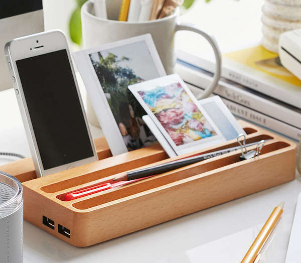 Wood Charging Station With Two Usb Ports 187 Review
